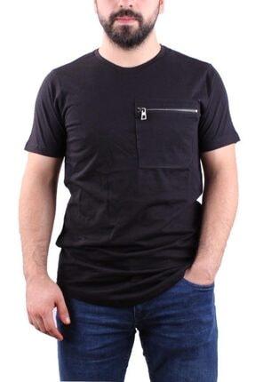Manche 21-4783 Erkek Siyah Bisiklet Yaka T-shirt