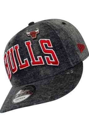 New Era Unisex Gri Nba Denım 9fıfty Ch Şapka