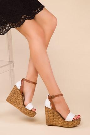 SOHO Beyaz Kadın Dolgu Topuklu Ayakkabı 15179