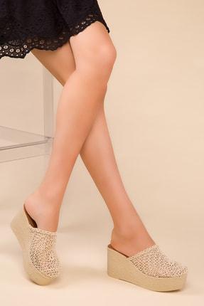 SOHO Bej Kadın Dolgu Topuklu Ayakkabı 15181