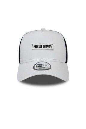 New Era Essentıal Aframe Trucker Osfm Beyaz Şapka
