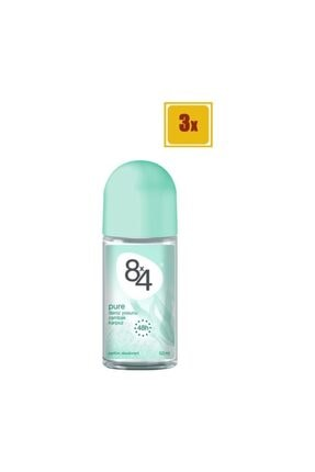 8x4 Pure Roll-on 50 Ml X 3 Adet