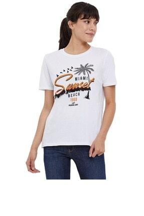 Loft Kadın Beyaz T-Shirt 2024744