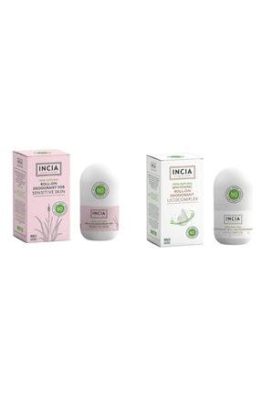 Incia Doğal Hassas Ciltler Için + Beyazlatıcı Roll On Deodorant 2'lix50ml