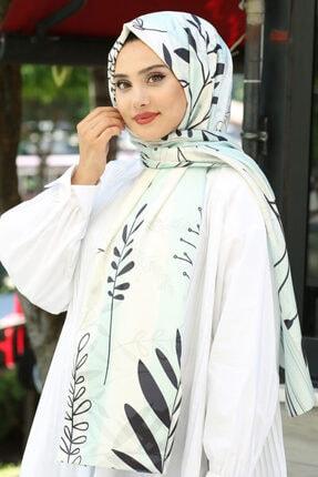 Afvente Kadın Beyaz Desenli Twill Şal Td-11