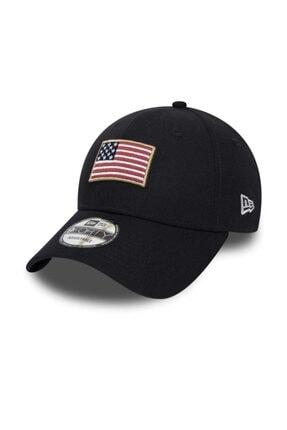 New Era Siyah Şapka Flagged 9forty Ne B Osfm