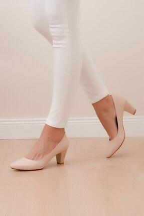 Shoes Time Kadın Bej Topuklu Ayakkabı 20y 225