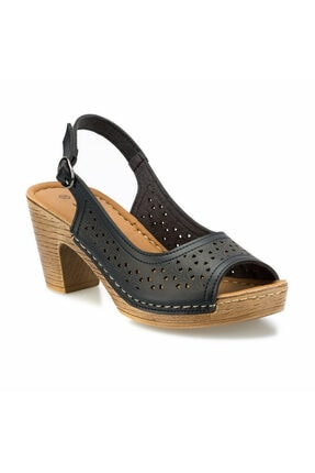 Polaris 161192.z Siyah Kadın Sandalet