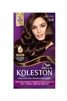 Koleston Koyu Kahve  Saç Boyası 3/0 Kit