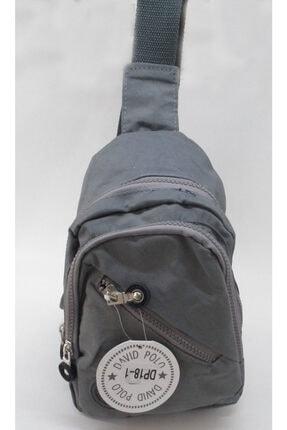 David Polo Unisex Gri Bodybag 4 Fermuarlı Ithal Paraşüt Kumaş Çanta