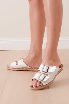 Shoes Time Kadın Beyaz Terlik 20y 817
