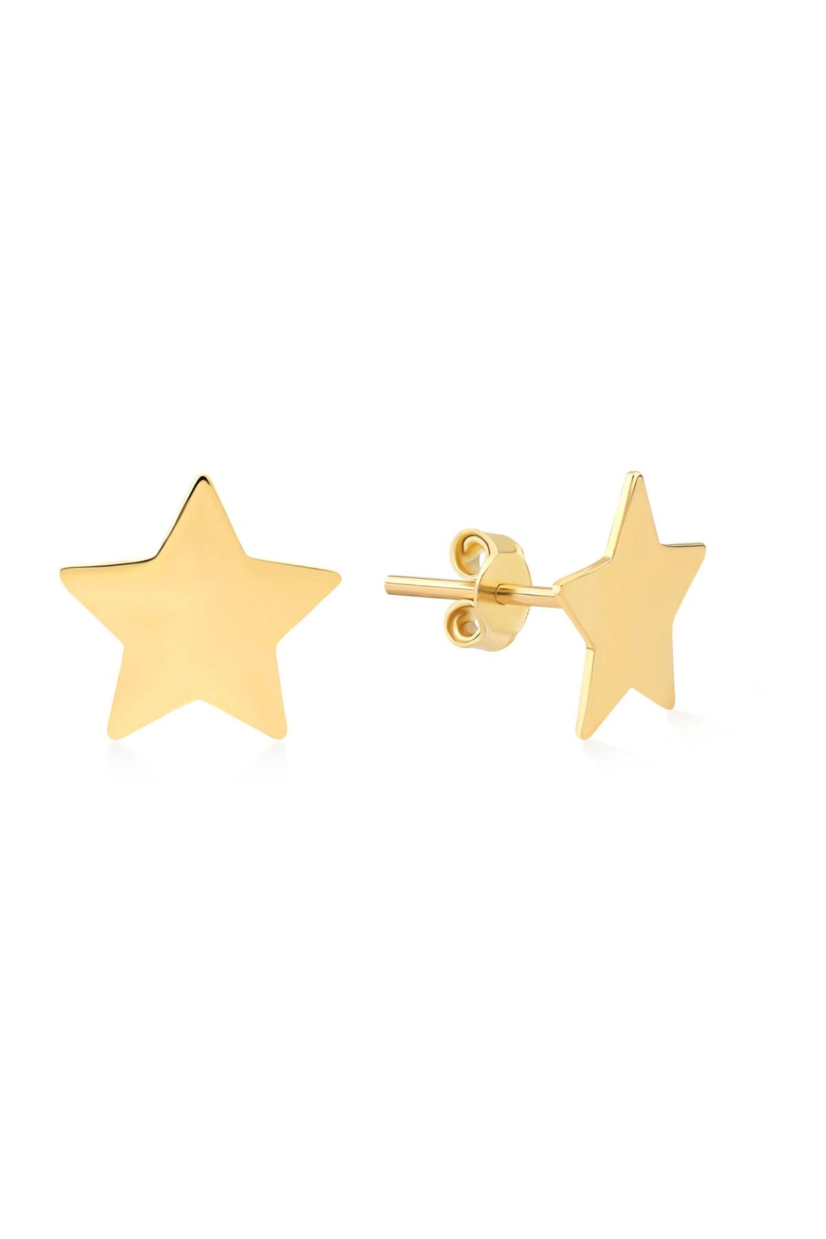 Gelin Pırlanta Gelin Diamond 14 Ayar Altın Yıldız Küpe