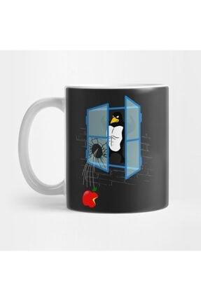 Brawny Linux Penguin Throws An Apple Thru The Window Kupa FIZELLO-0078157