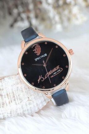 Spectrum Atatürk Imzalı Lacivert Renk Deri Kordonlu Bayan Saat