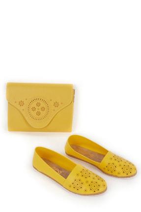 Gob London Sarı Kadın Babet Çanta Kombin 1015-111-0010_1008