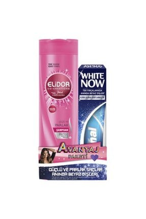 Elidor Güçlü Ve Parlak Şampuan 350 Ml + Signal White Now 75 Ml