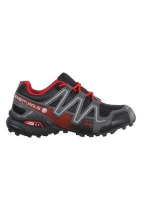 Jump 21513 Siyah-kırmızı Kadın Spor Ayakkabı