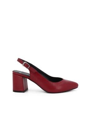 Hobby Kırmızı Deri Topuklu Kadın Ayakkabı Lp0028