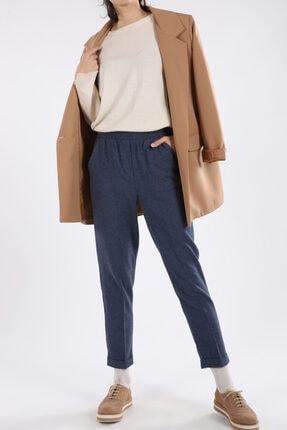 ALLDAY Kadın Lacivert Cepli Boru Paça Pantolon