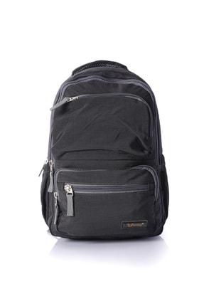 YOUNG Unisex Siyah 51291 Laptop Bölmeli Sırt Çantası