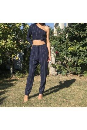 Bsl Kadın Lacivert Pantolon Büstiyer Takım