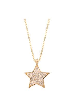 Myra Gold Taşlı Yıldız Altın Kolye