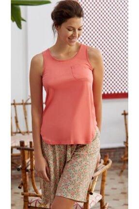 Eros Kadın Çıtır Çiçekli Kolsuz Pijama Takımı