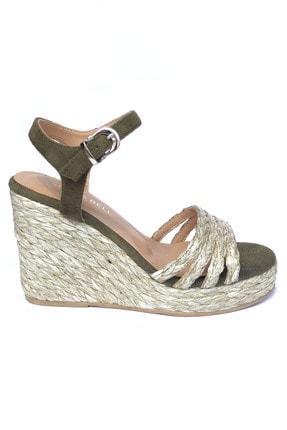 Kriste Bell Haki Kadın Topuklu Sandalet