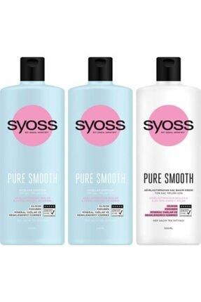 Syoss Pure Smooth Mıcellar Şampuan 500 ml X2 + Agırl. Sac Kremi
