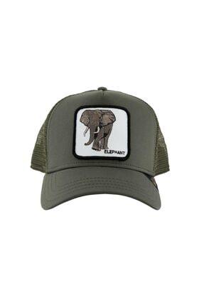 Goorin Bros Unisex Yeşil Fil Baskılı Şapka