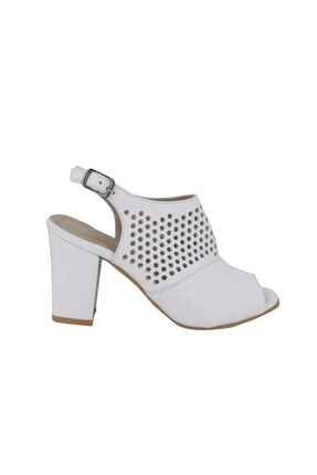 Hobby Kadın Beyaz Topuklu Ayakkabı