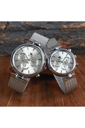 G-Sport Polo Unisex Gümüş Hasır Kordon Sevgili Saati