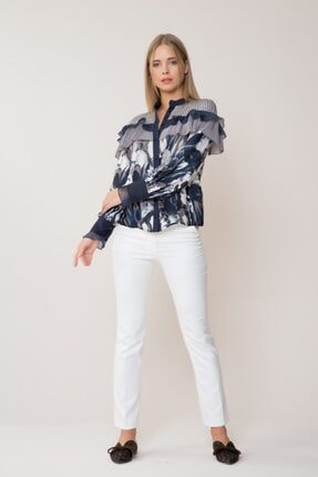 Gizia Kadın Beyaz Pantolon M18KAX0201XLN