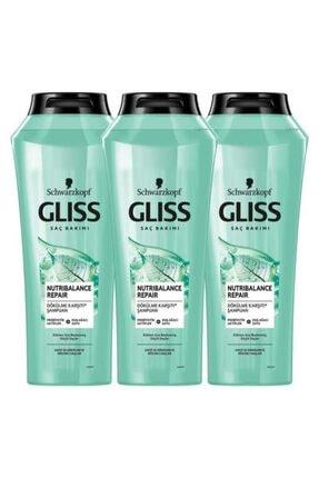 Gliss Nutribalance Repair Saç Dökülmesine Karşı Şampuan 500 ML 3'lü
