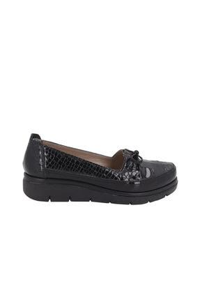 Hobby Siyah Rugan Deri Kadın Günlük Casual Ayakkabı