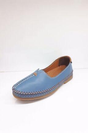 Stella Kadın Kot Rengi Deri Günlük Comfort Ayakkabı