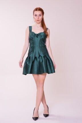 Gizia Kadın Etek Ucu Detaylı Mini Elbise M18KEX1291TZR