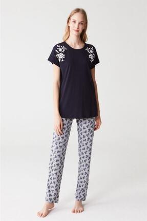 Mod Collection Kadın Lacivert Pijama Takımı