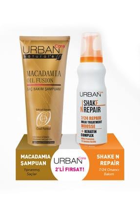 Urban Care Macadamia Yağı ve Keratin İçeren Şampuan ve Durulanmayan Bakım Köpüğü 250 ml + 150 ml 8680690702754