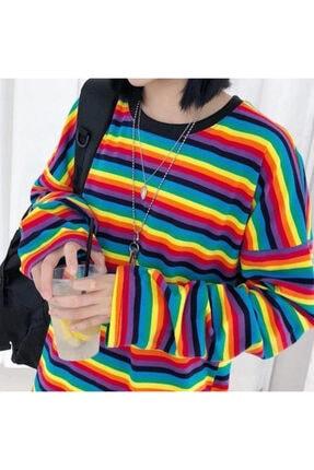 Köstebek Unisex Turuncu Uzun Kollu Sweatshirt