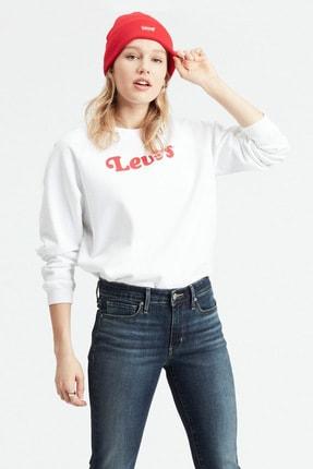 Levi's Kadın Beyaz Pamuklu Sweatshirt 29717-0032