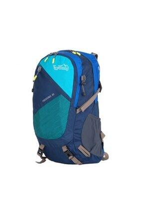 YOUNG Unisex Mavi Seyahat Ve Kamp Trekking Sırt Çantası