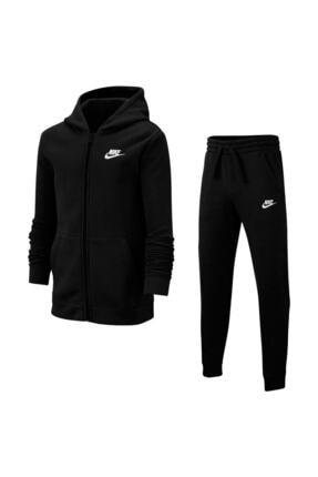 Nike Unisex Çocuk Siyah  Bv3634-010 Nsw Trk Suit Kapüşonlu Eşofman Takımı