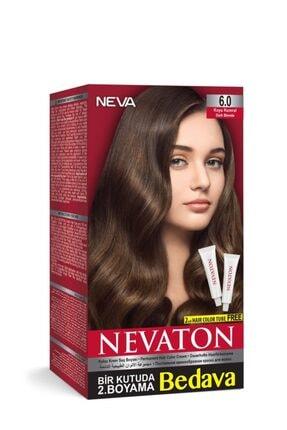Neva Ton Kalıcı Krem Saç Boyası 6.0 Koyu Kumral