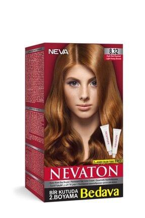 Neva Ton Kalıcı Krem Saç Boyası 8.32 Açık Bal Kumral