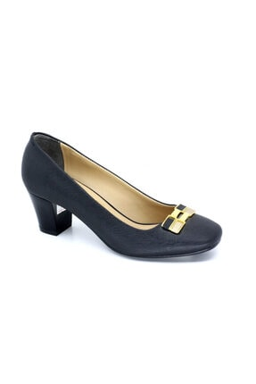 Punto Kadın Siyah Topuklu Ayakkabısı