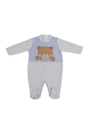 Pierre Cardin Unisex Bebek Ayıcıklı Gri Tulumu