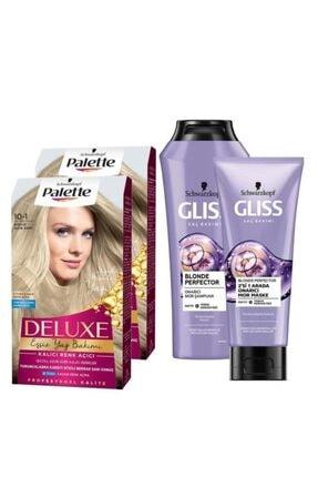 Gliss 10-1 Küllü Açık Sarıx2 Adet+blonde Perfector Mor Şampuan 250ml+blonde Perfector Mor Maske 200ml