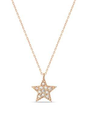 Herisson Kadın 925 Ayar Gümüş Zirkon Beyaz Taşlı Yıldız Kolye