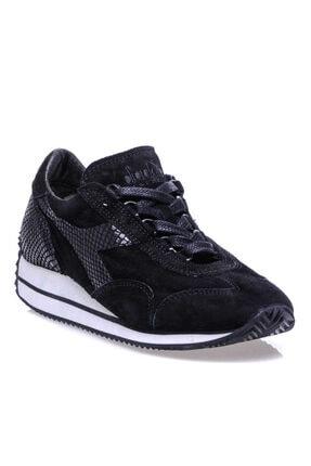 Diadora Equipe W Reptile Kadın Siyah Günlük Spor Ayakkabı - 16189480013